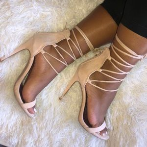 Nude/light pink strap oh heels